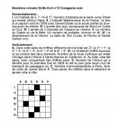 Nombres croisés 6x6 n° 2