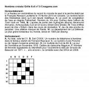 Nombres croisés 6x6 n° 3