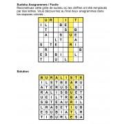 Sudoku Anagrammes 9x9 n° 2
