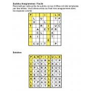 Sudoku Anagrammes 9x9 n° 4