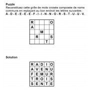 Puzzle 5x5 n° 1
