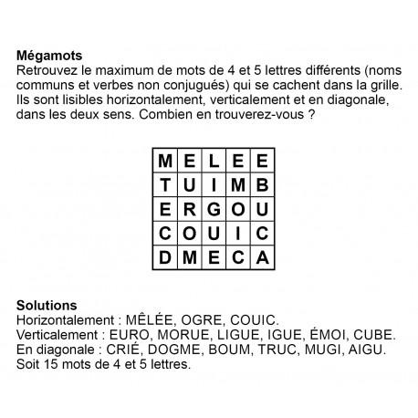 Mégamots 5x5 n° 6