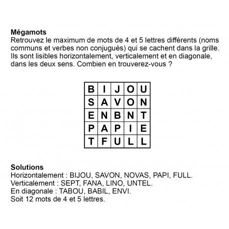 Mégamots 5x5 n° 10