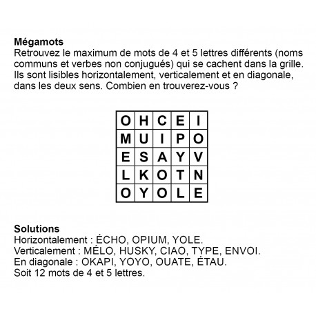 Mégamots 5x5 n° 12