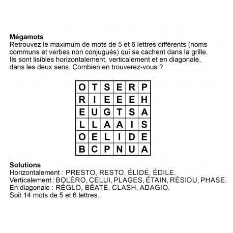 Mégamots 6x6 n° 1