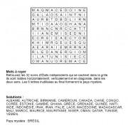 Mots à rayer thématiques 12x12 n° 2 / pays