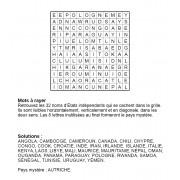Mots à rayer thématiques 12x12 n° 5 / pays