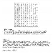 Mots à rayer thématiques 12x12 n° 9 / pays