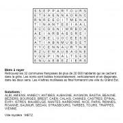 Mots à rayer thématiques 12x12 n° 1 / villes françaises