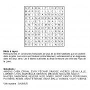 Mots à rayer thématiques 12x12 n° 2 / villes françaises