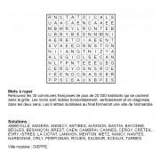 Mots à rayer thématiques 12x12 n° 5 / villes françaises