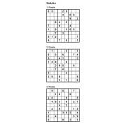 Sudoku 9x9 - Niveau Facile - Pack n° 1 de 3 grilles