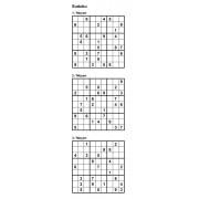 Sudoku 9x9 - Niveau Moyen - Pack n° 1 de 3 grilles
