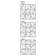 Sudoku 9x9 - Niveau Moyen - Pack n° 3 de 3 grilles