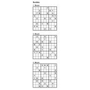 Sudoku 9x9 - Niveau Moyen - Pack n° 4 de 3 grilles