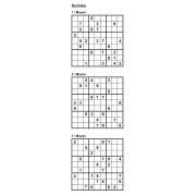 Sudoku 9x9 - Niveau Moyen - Pack n° 5 de 3 grilles