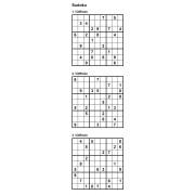 Sudoku 9x9 - Niveau Difficile - Pack n° 4 de 3 grilles