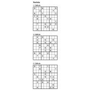 Sudoku 9x9 - Niveau Difficile - Pack n° 5 de 3 grilles