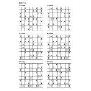 Sudoku 9x9 - Niveau Facile - Pack n° 1 de 10 grilles