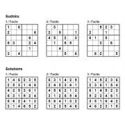 Sudoku 6x6 - Niveau Facile - Pack n° 1 de 3 grilles