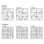 Sudoku 6x6 - Niveau Facile - Pack n° 2 de 3 grilles