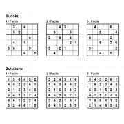 Sudoku 6x6 - Niveau Facile - Pack n° 4 de 3 grilles
