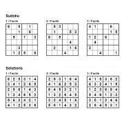 Sudoku 6x6 - Niveau Facile - Pack n° 6 de 3 grilles