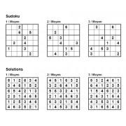 Sudoku 6x6 - Niveau Moyen - Pack n° 1 de 3 grilles