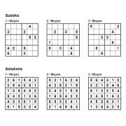Sudoku 6x6 - Niveau Moyen - Pack n° 2 de 3 grilles
