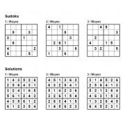 Sudoku 6x6 - Niveau Moyen - Pack n° 4 de 3 grilles