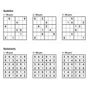 Sudoku 6x6 - Niveau Moyen - Pack n° 5 de 3 grilles