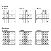 Sudoku 6x6 - Niveau Moyen - Pack n° 6 de 3 grilles