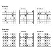 Sudoku 6x6 - Niveau Difficile - Pack n° 1 de 3 grilles