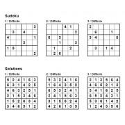 Sudoku 6x6 - Niveau Difficile - Pack n° 2 de 3 grilles