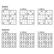 Sudoku 6x6 - Niveau Difficile - Pack n° 3 de 3 grilles