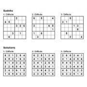 Sudoku 6x6 - Niveau Difficile - Pack n° 4 de 3 grilles