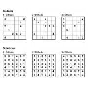 Sudoku 6x6 - Niveau Difficile - Pack n° 6 de 3 grilles