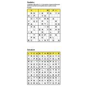 Sudoku / Wordoku 12x12 n° 1 - Mot mystère - Niveau Facile