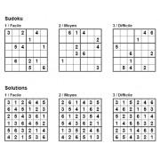 Sudoku 6x6 - Pack n° 1 de 3 grilles - 3 niveaux (Facile / Moyen / Difficile)