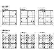 Sudoku 6x6 - Pack n° 5 de 3 grilles - 3 niveaux (Facile / Moyen / Difficile)