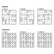 Sudoku 6x6 - Pack n° 6 de 3 grilles - 3 niveaux (Facile / Moyen / Difficile)