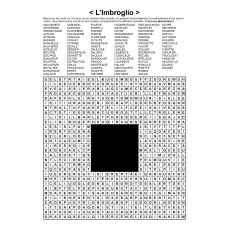 L'Imbroglio / Mots en zigzag / 30x30 / Grille n° 29 sur l'humour